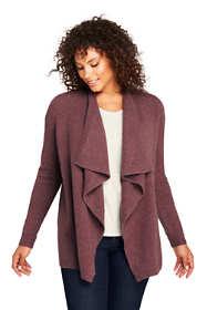 Women's Plus Size Boucle Waterfall Cardigan Sweater