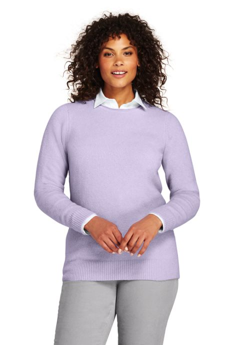 Women's Plus Size Boucle Roll Neck Sweater