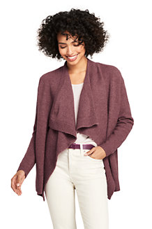 Women's Boucle Waterfall Cardigan