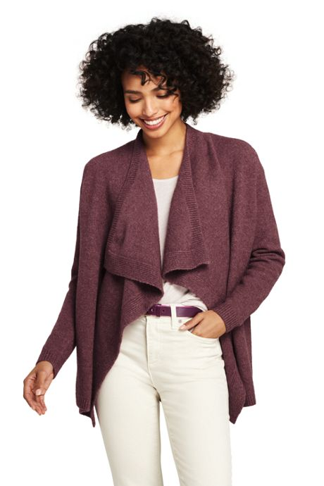 Women's Boucle Waterfall Cardigan Sweater