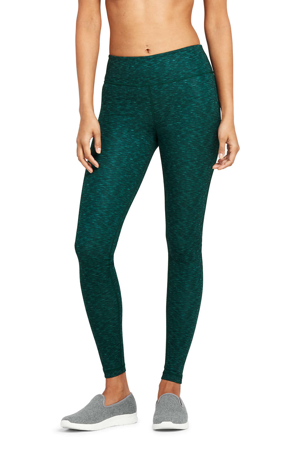 41ff8d97e900 Women s Active High Waisted Yoga Leggings from Lands  End