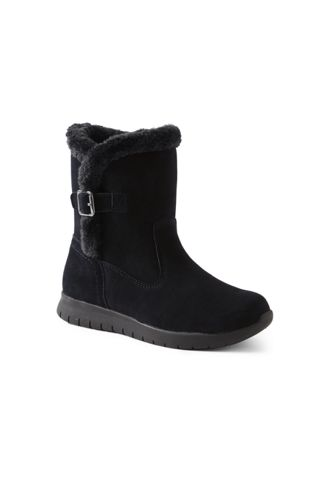 Women's Wide Lightweight Comfort Suede Boots