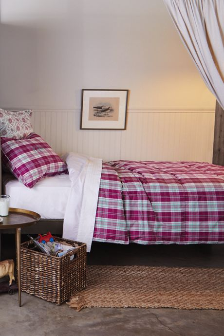 Percale Plaid Comforter