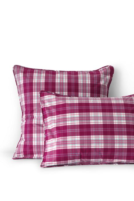 Percale Plaid Shams