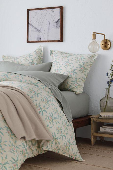 Organic Flannel Print Duvet Cover