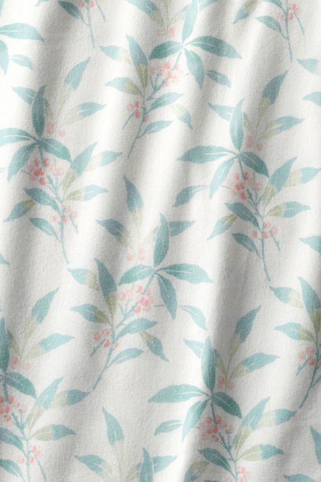 Organic Flannel Print Shams