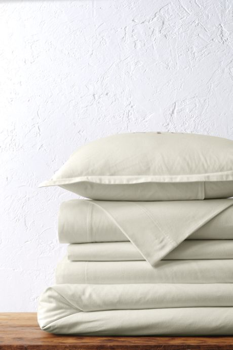 Organic Flannel Solid Duvet Cover