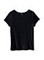 Kurzarm-Shirt aus Velours für große Mädchen