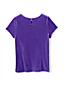 Le T-Shirt en Velours à Manches Courtes, Fille