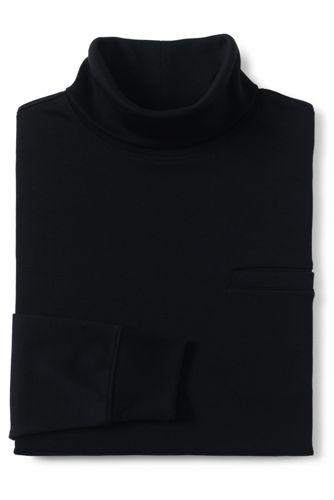 メンズ・スーピマ・インターロック/タートルネック/ポケット付き/長袖