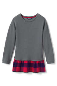 Girls Layered Sweatshirt Tunic Top