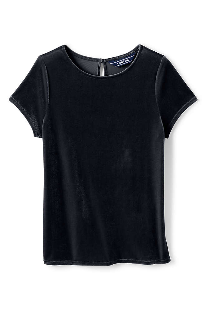 Little Girls Velveteen Tee, Front