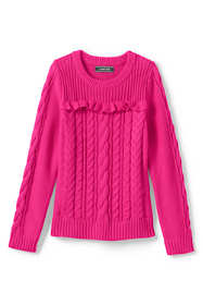 Little Girls Drifter Cable Sweater