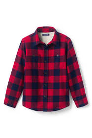 Little Boys Sherpa Lined Flannel Jacket