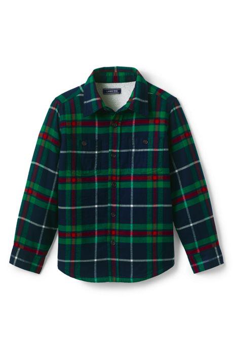 Boys Sherpa Lined Flannel Jacket