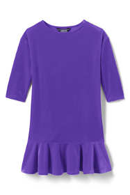 Girls Drop Waist Velveteen Dress