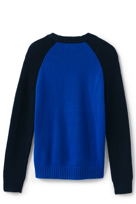Little Boys Crewneck Fisherman Sweater
