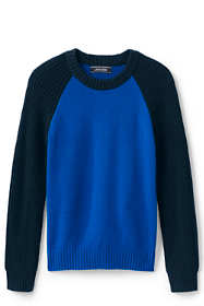 Boys Crewneck Fisherman Sweater