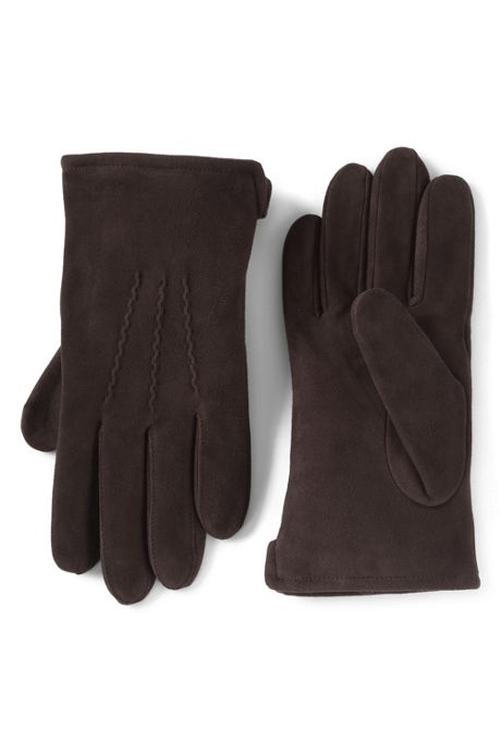 Men's Cashmere Lined Suede Leather Gloves