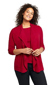 2a8c89c3e36 Women's Plus Size Cashmere Waterfall Cardigan Sweater