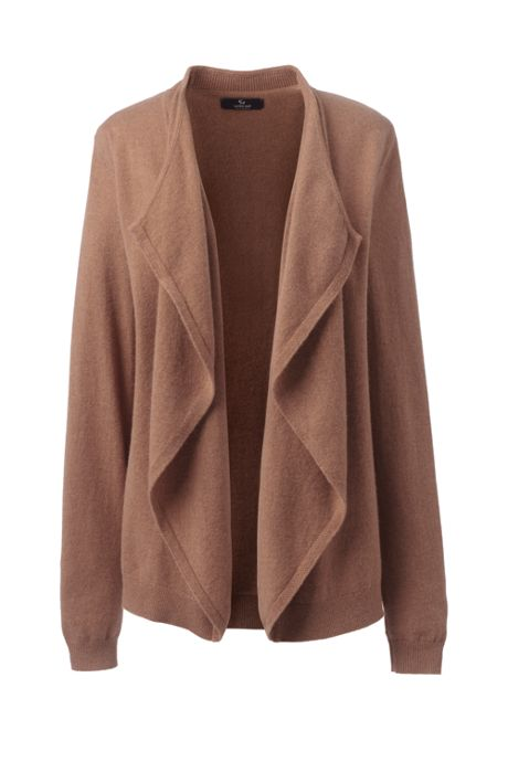Women's Cashmere Waterfall Cardigan Sweater