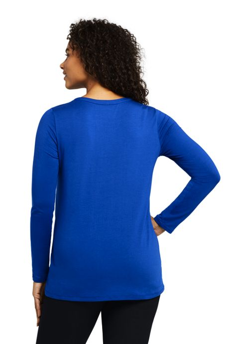 Women's Plus Size Long Sleeve Cut Out Tunic