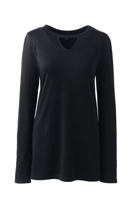 Women's Long Sleeve Cut Out Tunic