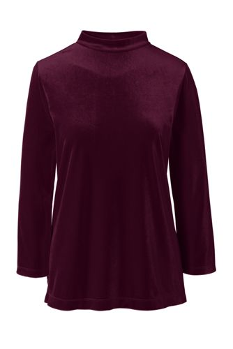 Women's Velvet Long Sleeve Top