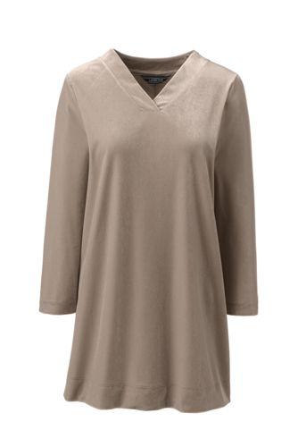 f1f1542d573af Women s Plus Size 3 4 Sleeve Velvet Tunic