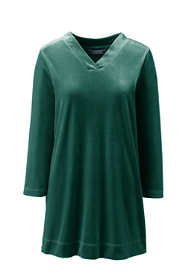 Women's Plus Size 3/4 Sleeve Velvet Tunic