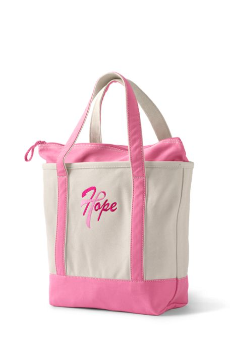 Pink Thread Medium Zip Top Tote Canvas Bag