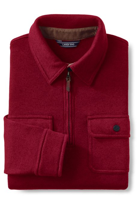 Men's Quarter Zip Sweater Fleece Polo