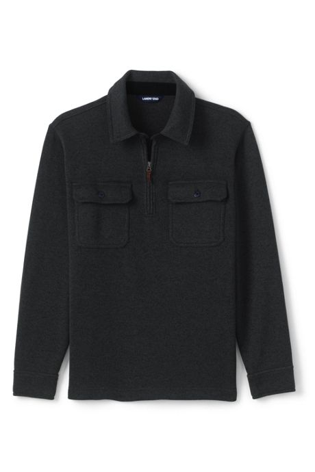 Men's Tall Quarter Zip Sweater Fleece Polo
