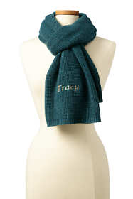 Women's Waffle Knit Cashmere Scarf