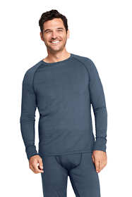 Men's Print Stretch Thermaskin Long Underwear Crew Base Layer