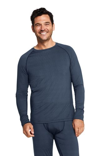 Men's Printed Stretch Thermaskin Crew Neck Thermal Top
