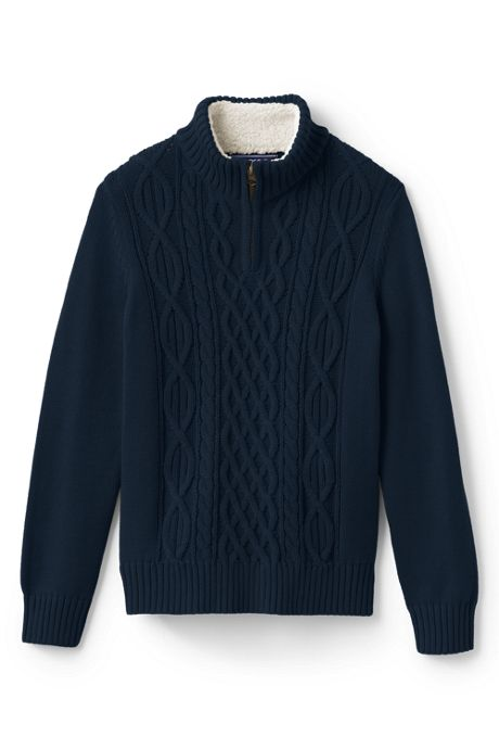 Little Boys Half Zip Sweater