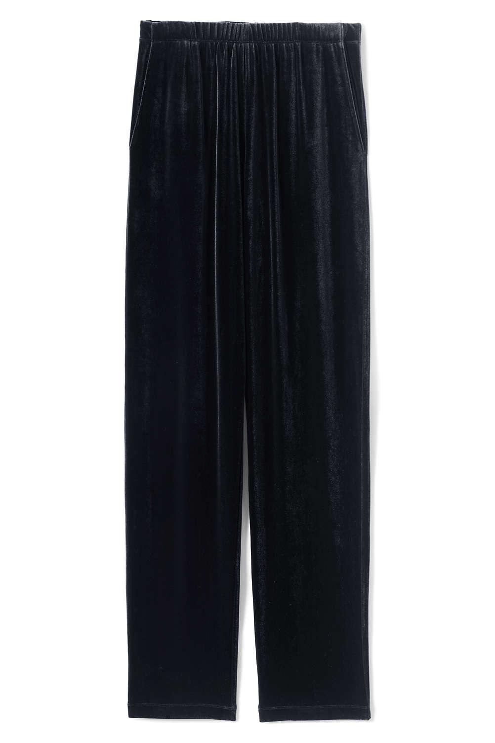 14abd26a35b Women s Plus Size Sport Knit Elastic Waist Pants High Rise Velvet from Lands   End