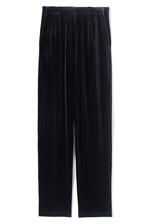 75b4b3c0 Women's High Waisted Sport Knit Velvet Trousers | Lands' End