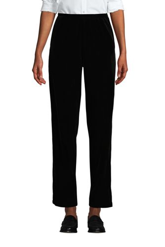 Women's Sport Knit High Waisted Velvet Trousers