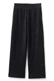 Women's Tall Sport Knit Corduroy Elastic Waist Wide Leg Pants High Rise
