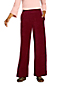 Women's High Waisted Sport Knit Cord Wide Leg Trousers