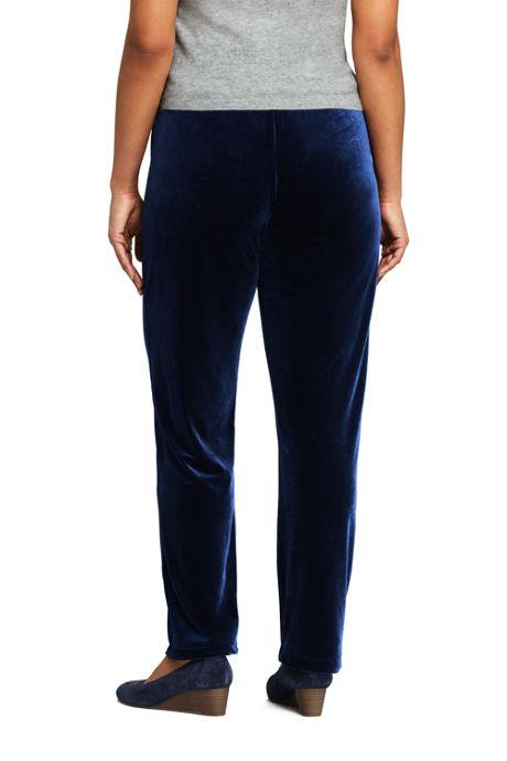 Women's Plus Size Sport Knit Elastic Waist Pants High Rise Velvet