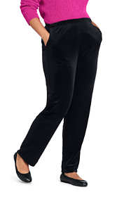 Women's Plus Size Sport Knit Elastic Waist Pants High Rise Velvet