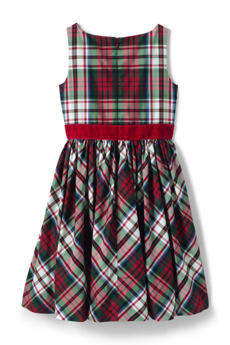 Little Girls Taffeta Christmas Dress