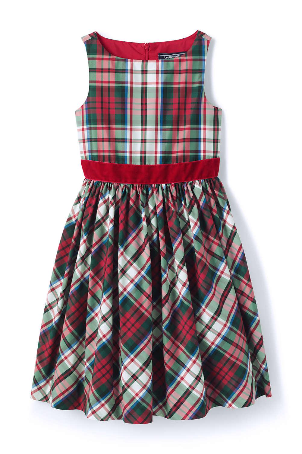 62c54f8ecedf Girls Taffeta Christmas Dress from Lands' End
