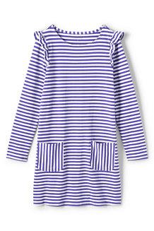 Gestreiftes Rüschen-Kleid für Mädchen