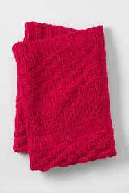 Mix Knit Throw Blanket