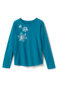 Little Girls Sparkle Snowflake Graphic Tee
