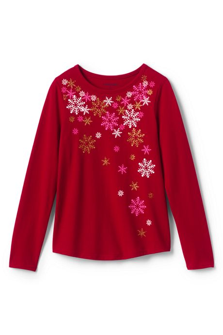 Girls Plus Sparkle Snowflake Graphic Tee